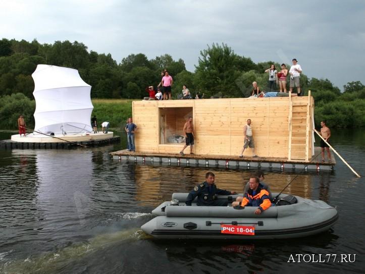 плавучие дома на воде