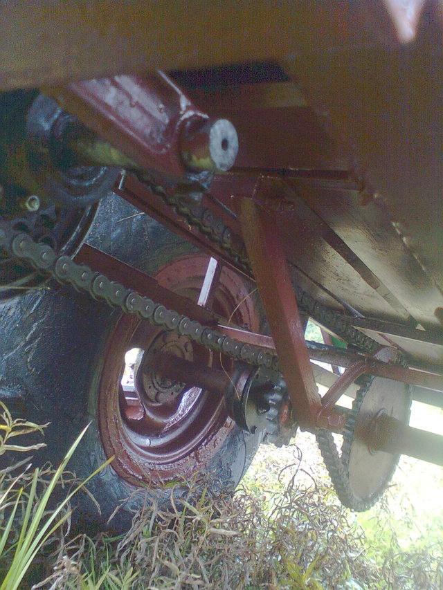 цепной привод задних колес караката
