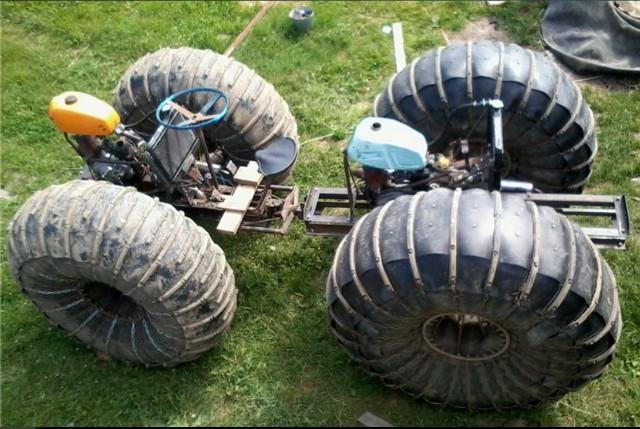 каракат с двумя двигателями