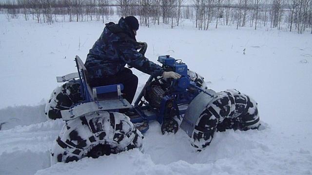 Как из мотоблока сделать снегоход своими руками